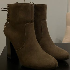 Forever 21 Olive Booties